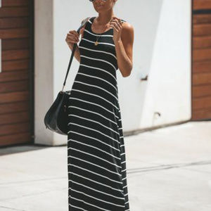 Vici Dresses - Vici Off the coast striped maxi dress-NWT